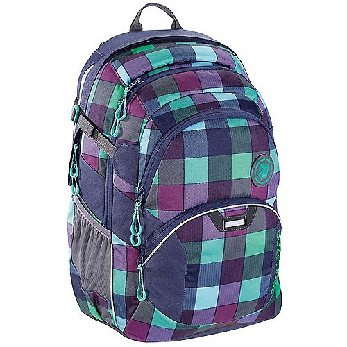 Coocazoo City and School JobJobber2 Laptoprucksack mit Patch 45 cm - green purple district