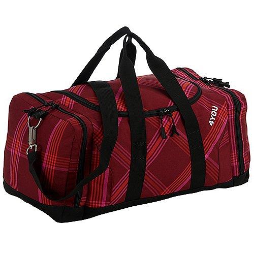 4YOU Igrec Collection Sportbag Sporttasche 43 cm checker red pink
