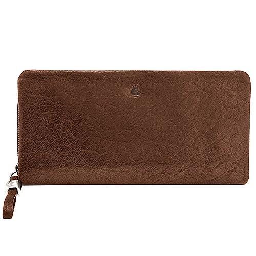 Graustein Angebote Esquire Crystel Damenbörse mit Reißverschluss 20 cm - natur