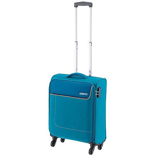 American Tourister Funshine 4-Rollen-Bordtrolley 55 cm - blue ocean Sale Angebote Hermsdorf