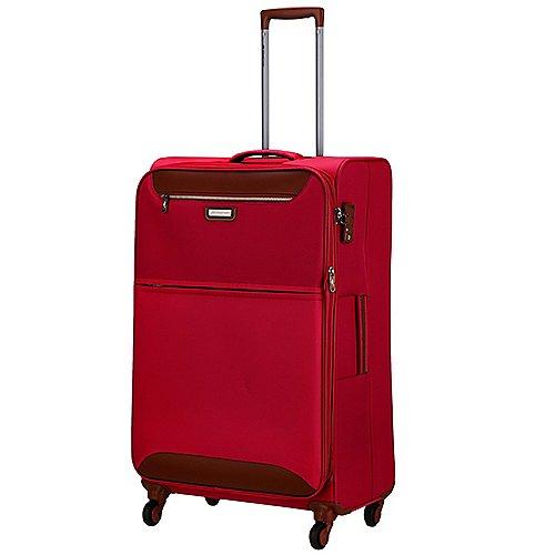 March 15 Trading Flybird 4-Rollen-Trolley mit Dehnfalte 77 cm - red/brown