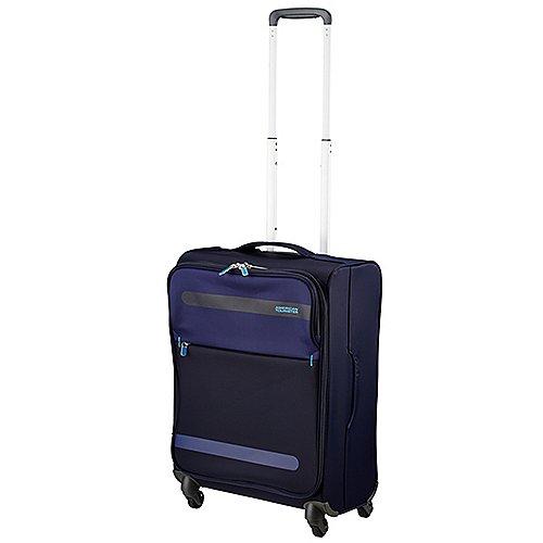 American Tourister Herolite Super Light 4-Rollen-Bordtrolley 55 cm - midnight blue