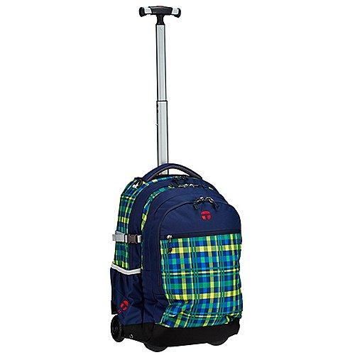 Take It Easy Actionbags 2-Rollen-Rucksacktrolley Barcelona 48 cm - crossy blau/grün