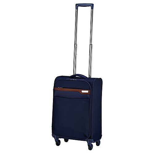 March 15 Trading Lite 4-Rollen-Handgepäcktrolley 55 cm - navy/cognac