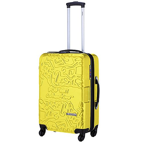 Licences Avenue K. Haring Pop Art 4-Rollen-Koffer 64 cm - gelb