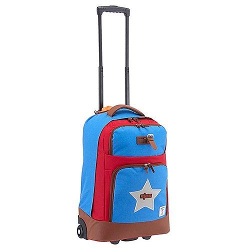 F23 Urban Survival 2.0 Wheelie Bag Rollreisetasche 60 cm blau rot