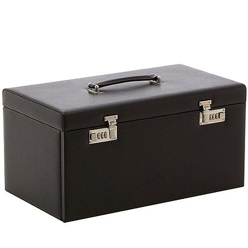 Windrose Ambiance Schmuckkoffer / Uhrenkoffer 5 Etagen aus Leder 45 cm - schwarz Preisvergleich