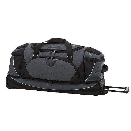 Dermata Reise Reisetasche auf Rollen mit Rucksackfunktion 82 cm grau