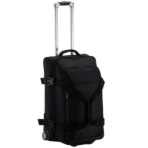 Dermata Reise Doppeldecker Reisetasche auf Rollen 66 cm schwarz