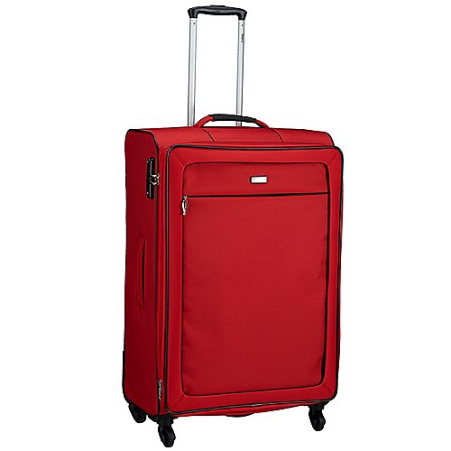 Lindenau Angebote Stratic Clarito Light 4-Rollen-Trolley 79 cm - rot
