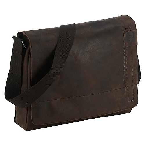 Strellson Richmond Messenger LH mit Laptopfach 38 cm - dark brown