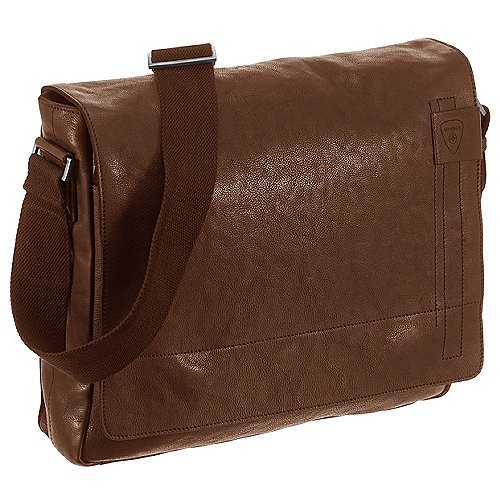 Strellson Upminster Messenger mit Laptopfach 39 cm - cognac