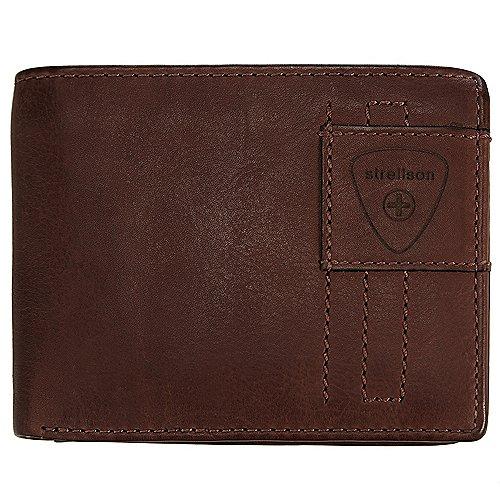 Upminster Geldbörse Leder 12 cm Strellson dark brown - broschei