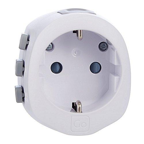 Design Go Reisezubehör Geerdeter Universaladapter Produktbild