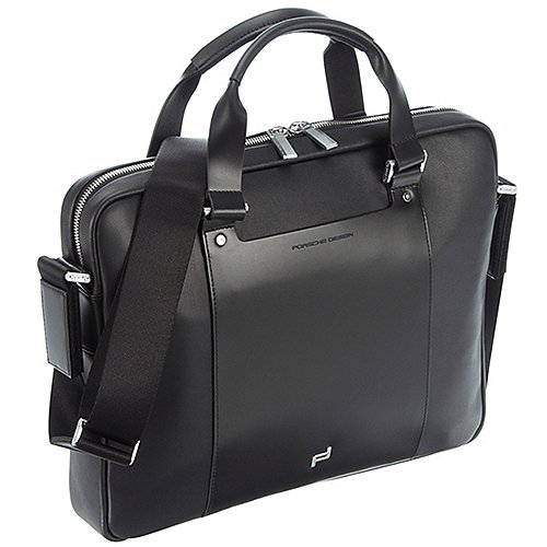 Porsche Design Shyrt-Leather Laptop Bag 39 cm - black Preisvergleich