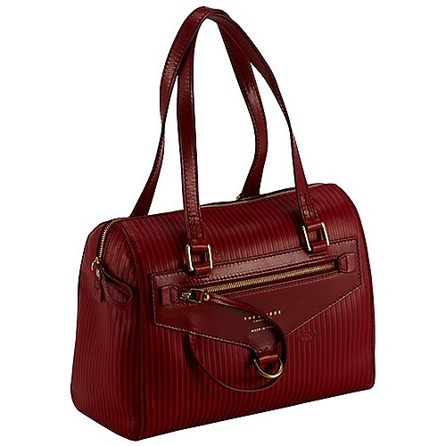 The Bridge Heritage Luxe Donna Barrel Bag 30 cm - rosso smalto Sale Angebote Gablenz