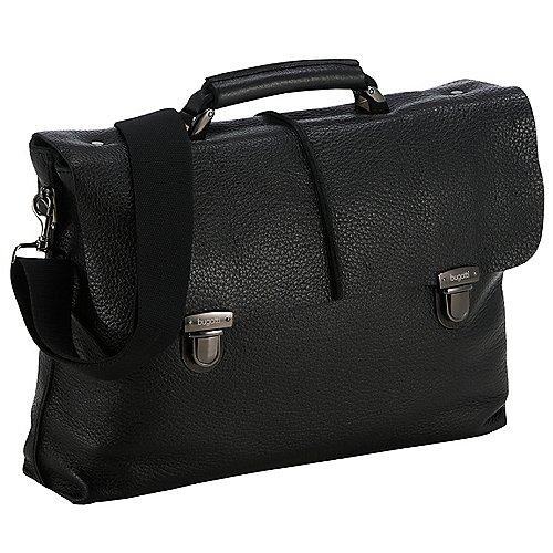 Bugatti Milano Aktentasche mit Laptopfach 41 cm - schwarz