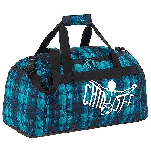 Chiemsee Sports & Travel Bags Matchbag Sporttasche 56 cm - checky chan blue Sale Angebote Gablenz