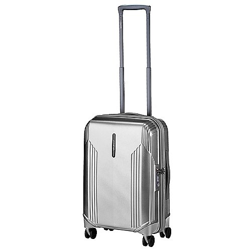 March 15 Trading New Manhattan 4-Rollen Kabinentrolley 55 cm - silver brushed Sale Angebote Gablenz