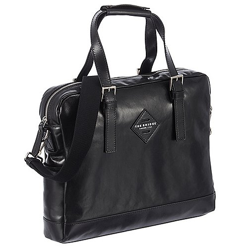 Frauendorf Angebote The Bridge Patch Luxe Aktentasche mit Laptopfach 38 cm - schwarz