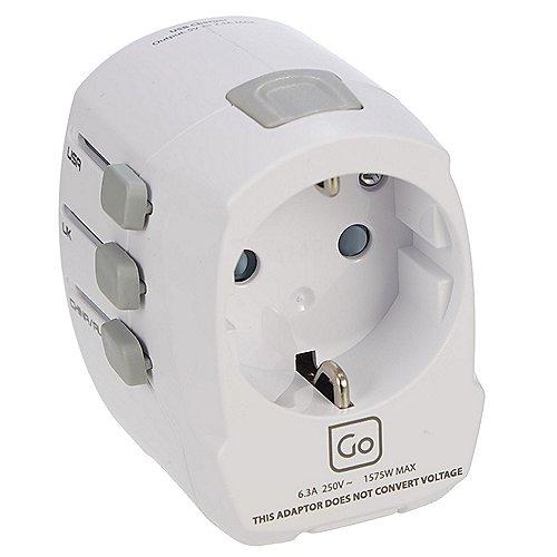 Design Go Reisezubehör Adapter EU - Weltweit USB Produktbild