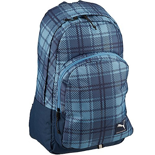 Puma Academy Backpack Laptoprucksack 50 cm blue heaven plaid