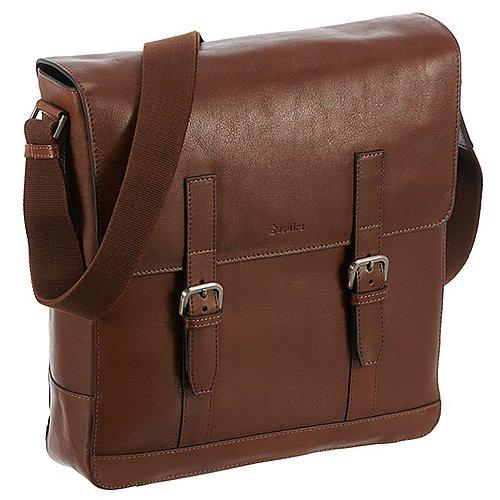 Esquire Vienna Bags Umhängetasche mit Laptopfach 30 cm sattel