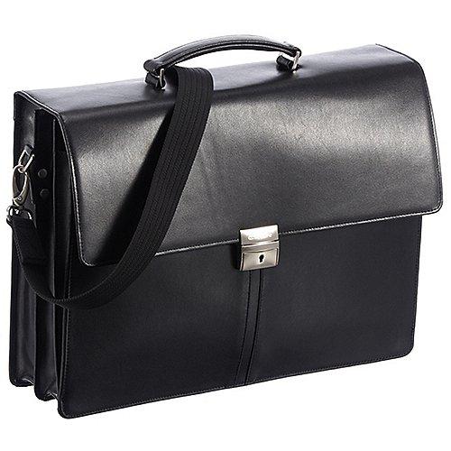 Esquire Brisbane Aktenmappe mit Laptopfach 41 cm - schwarz