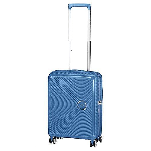 American Tourister Soundbox 4-Rollen-Bordtrolley 55 cm - denim blue