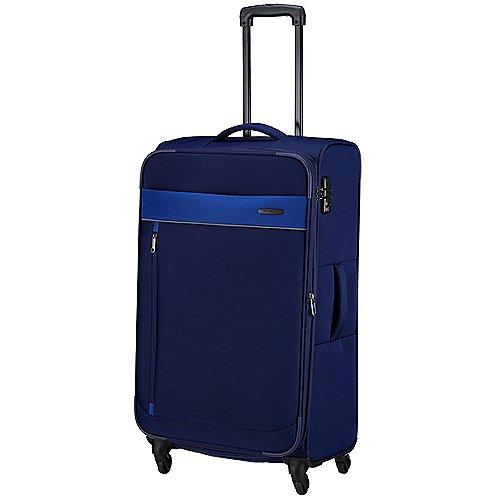 Travelite Delta 4-Rollen-Trolley 78 cm - marine Sale Angebote Terpe