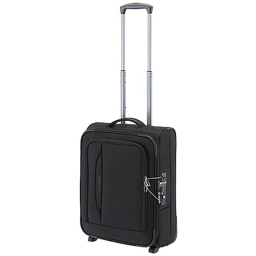 Travelite CrossLite 4.0 2-Rollen-Bordtrolley 54 cm - schwarz