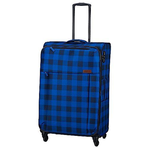 Travelite Campus 4-Rollen-Trolley 66 cm - karo blau