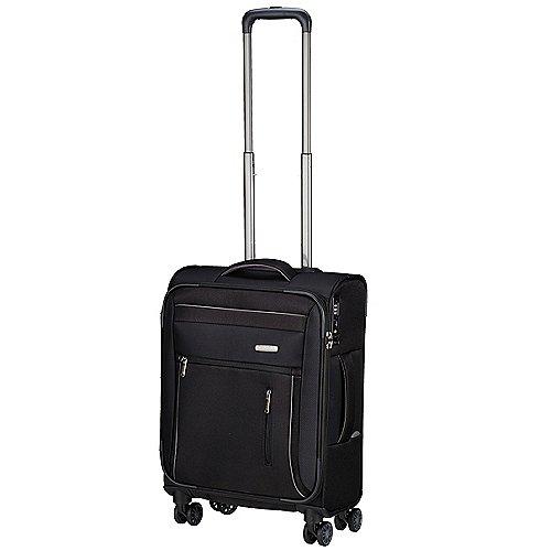 Travelite Capri 4-Rollen-Bordtrolley 55 cm - schwarz