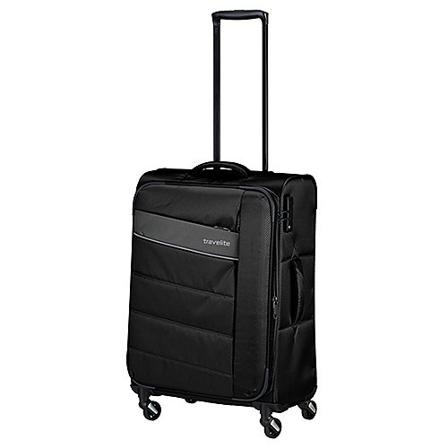 Travelite Kite 4-Rollen-Trolley 64 cm - schwarz