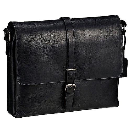 Leonhard Heyden Roma Umhängetasche mit Laptopfach 36 cm Schwarz auf Rechnung bestellen