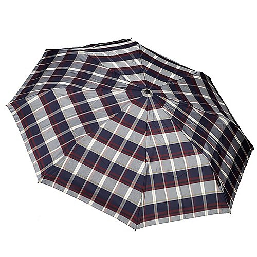 Knirps Taschenschirme T.200 Medium Duomatic 28 cm - check navy/bordeaux