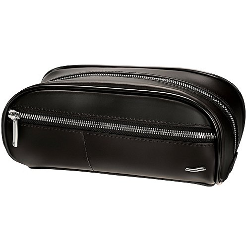 Vocier Leather Collection F12 Dopp Kit Kulturbeutel 24 cm - black