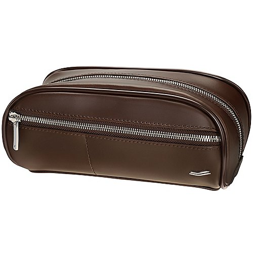Vocier Leather Collection F12 Dopp Kit Kulturbeutel 24 cm - brown