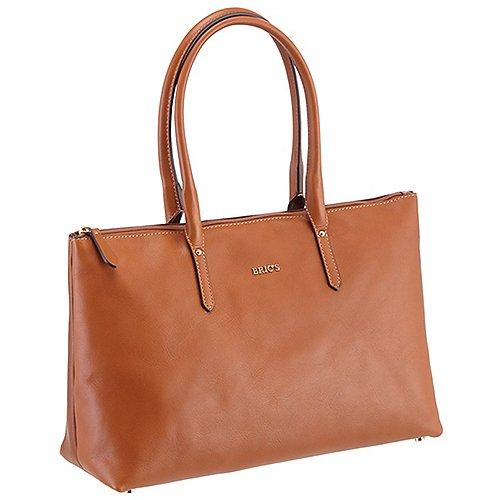 Brics Life Pelle Damenhandtasche 38 cm - cognac