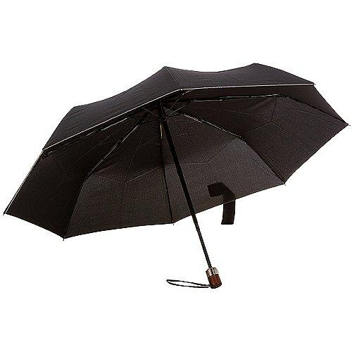 Samsonite Umbrella Wood Classic Regenschirm Auto - black bei Koffer-Direkt.de