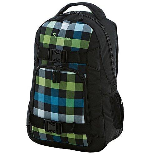 koffer-direkt.de RoadTrip Rucksack mit Notebookfach 46 cm - green-color-check-black Sale Angebote Hermsdorf