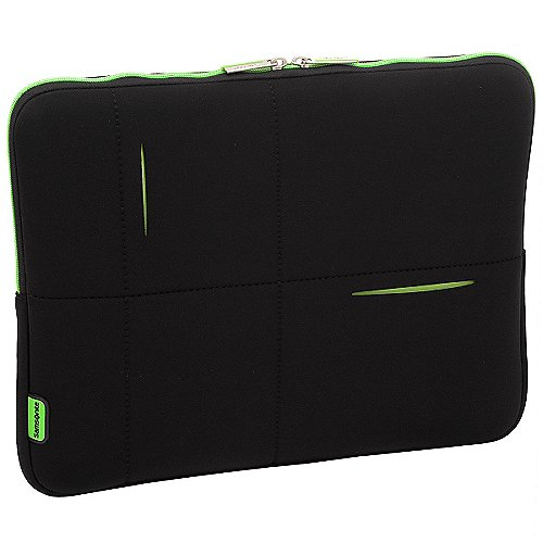 Samsonite Airglow Laptophülle 40 cm - schwarz/grün