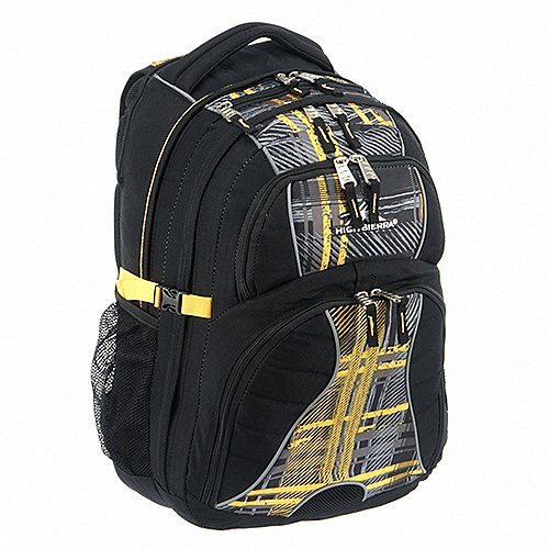 High Sierra School Backpacks Laptoprucksack Swerve 48 cm - black/palette plaid/yell-o jetztbilligerkaufen