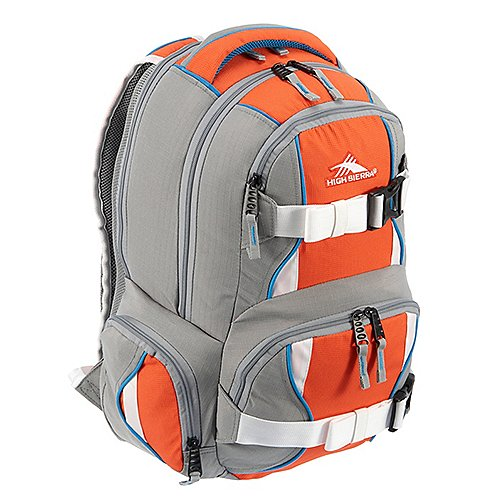 High Sierra School Backpacks Laptoprucksack Brody 48 cm - ash/blaze/orange/white