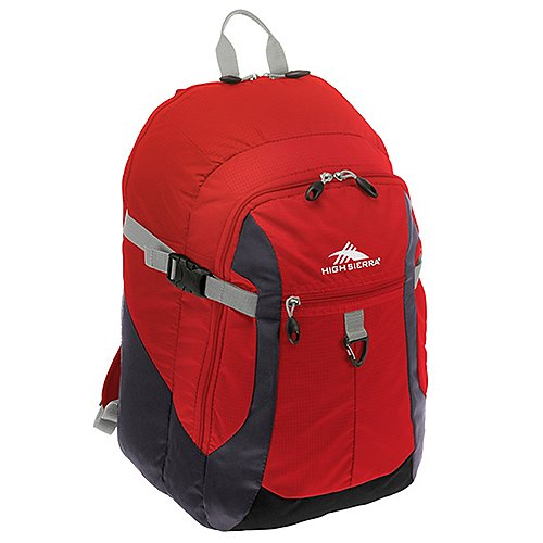 High Sierra Adventure Travel Sporttour Laptop Rucksack 50 cm - red/mercury/black/ash jetztbilligerkaufen