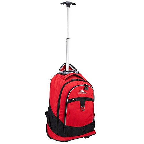 High Sierra Adventure Travel Rucksack auf Rollen 51 cm - crimson/black