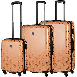 Saxoline Golden Flamingo 4-Rollen Trolley Set 3-tlg. Produktbild