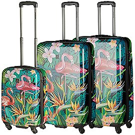 Saxoline Exotic Flamingo 4-Rollen Trolley Set 3-tlg. Produktbild
