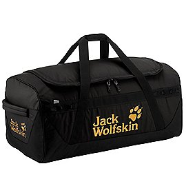 jack wolfskin travel expedition trunk reisetasche mit rucksackfunktion 65 cm black koffer. Black Bedroom Furniture Sets. Home Design Ideas