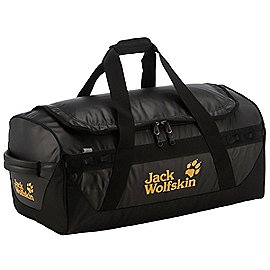 jack wolfskin travel expedition trunk reisetasche mit rucksackfunktion 74 cm black koffer. Black Bedroom Furniture Sets. Home Design Ideas
